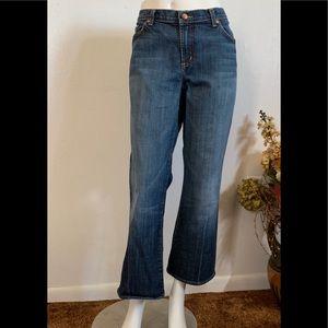 David Kahn Jeanswear Distressed Straight Leg Sz 14